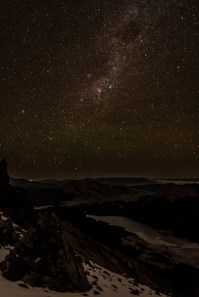 The Milky Way over the South Mavora Lake. View from Pt 1590m south of Mt Campbell