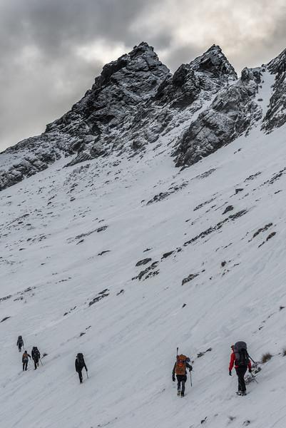 OSONZAC party approaching Mount Crichton