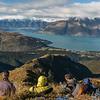 On the south-east ridge of Mt Crichton, looking down onto Lake Wakatipu.