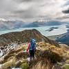 Descending the north-west ridge of Mount Crichton.
