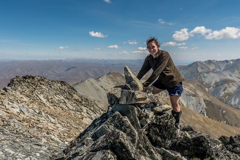 On the summit of Mount Domett