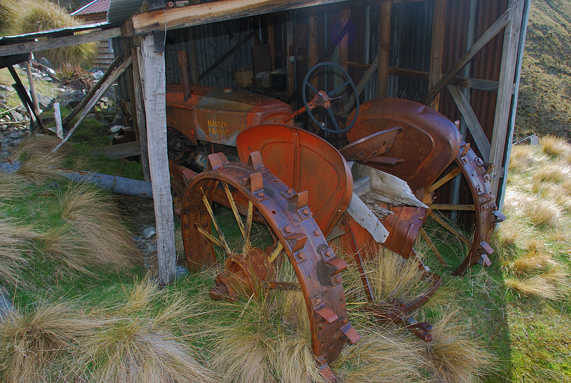 Old tractor at Bonnie Jean Hut