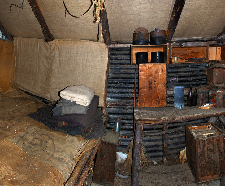 Wallers Hut interior