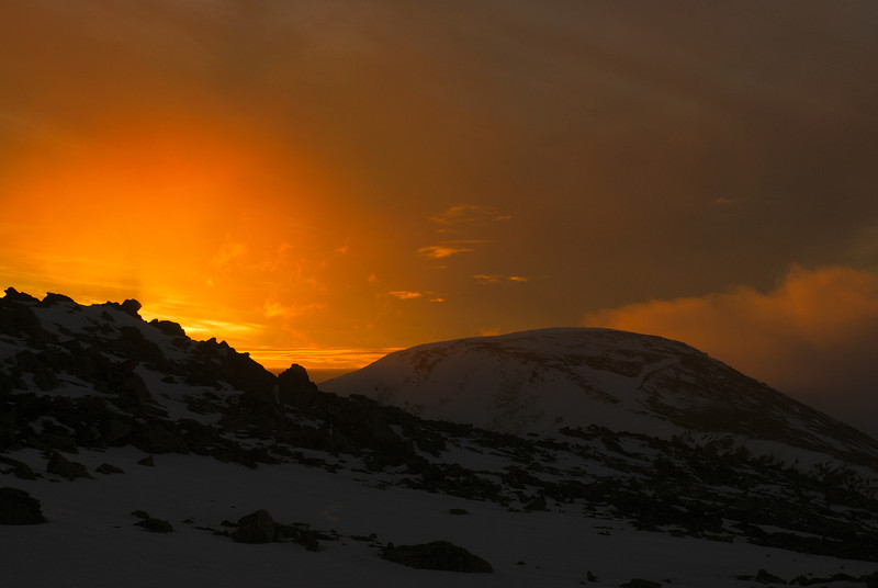 Sunset on Mt St Bathans
