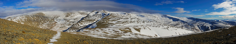 The Saint Bathans Range from Pt 1900m
