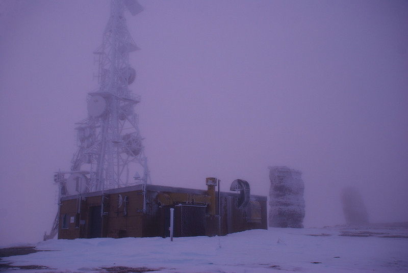 The TV mast and the Obelisk, on the high point of the Old Man Range