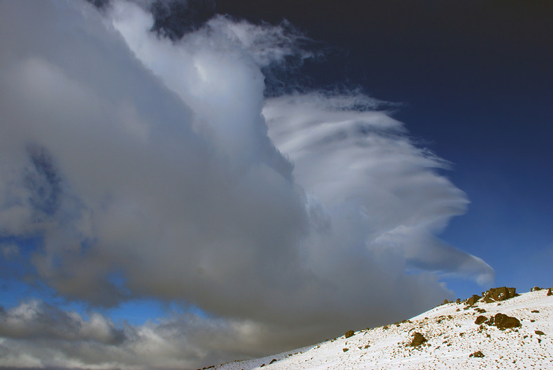 Cloud formations at the northern end of the Old Man Range. Yes, it was very windy!