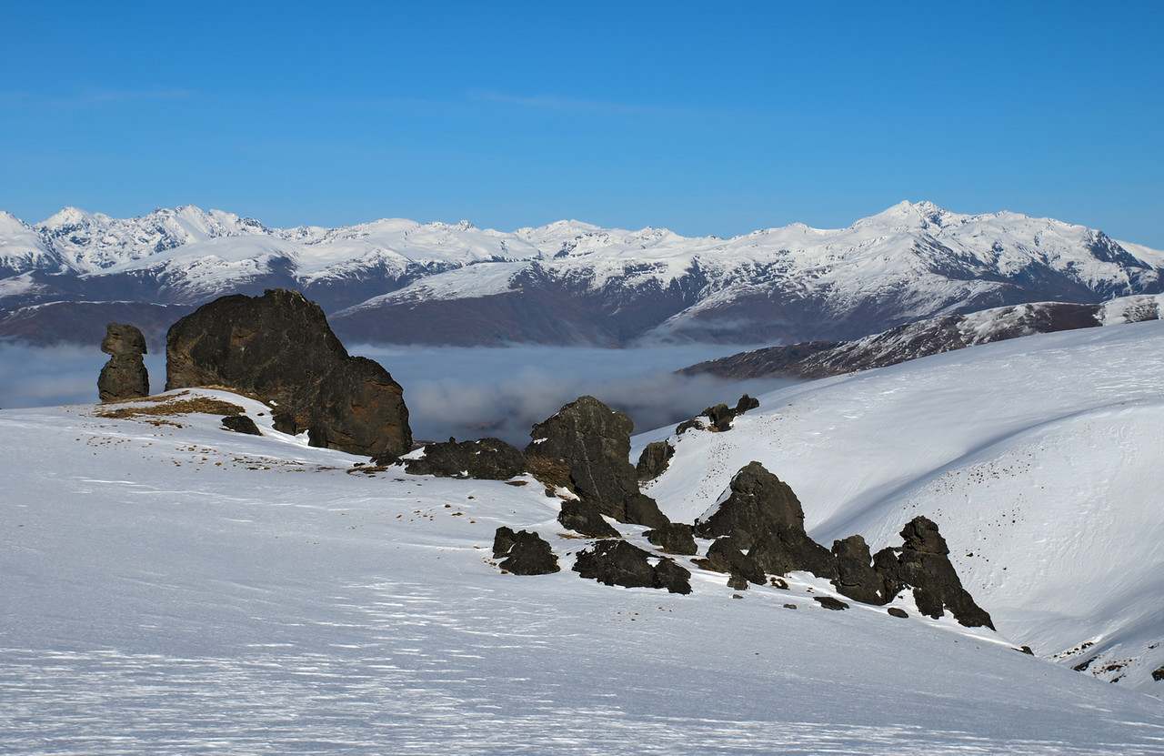 Hector Mountains and The Remarkables from Mount Dottrel