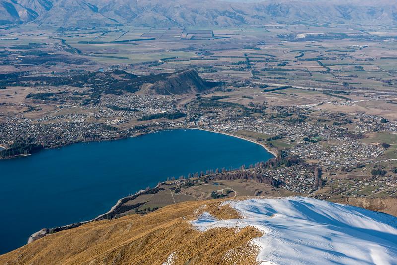 Wanaka and Mount Iron from Roys Peak