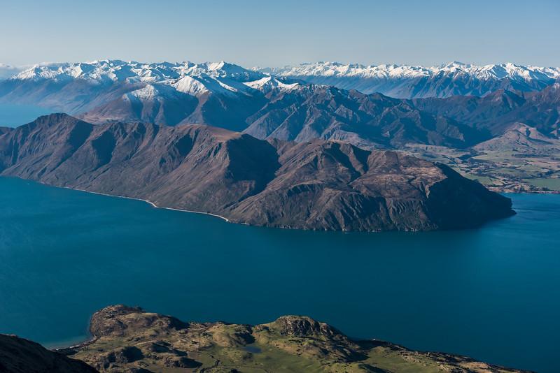 View of The Peninsula, Lake Wanaka, from Roys Peak