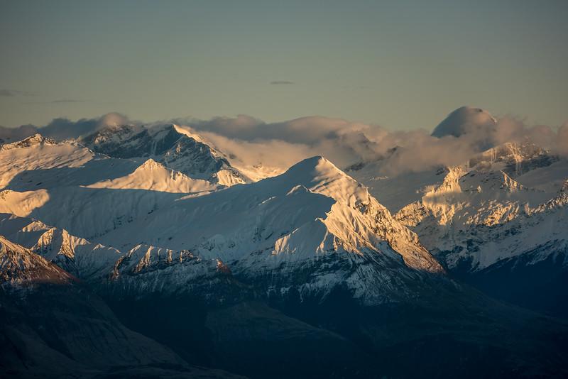 Fog Peak, Rob Roy Peak, Niger Peak and Mount Aspiring/Tititea from Mount Alpha