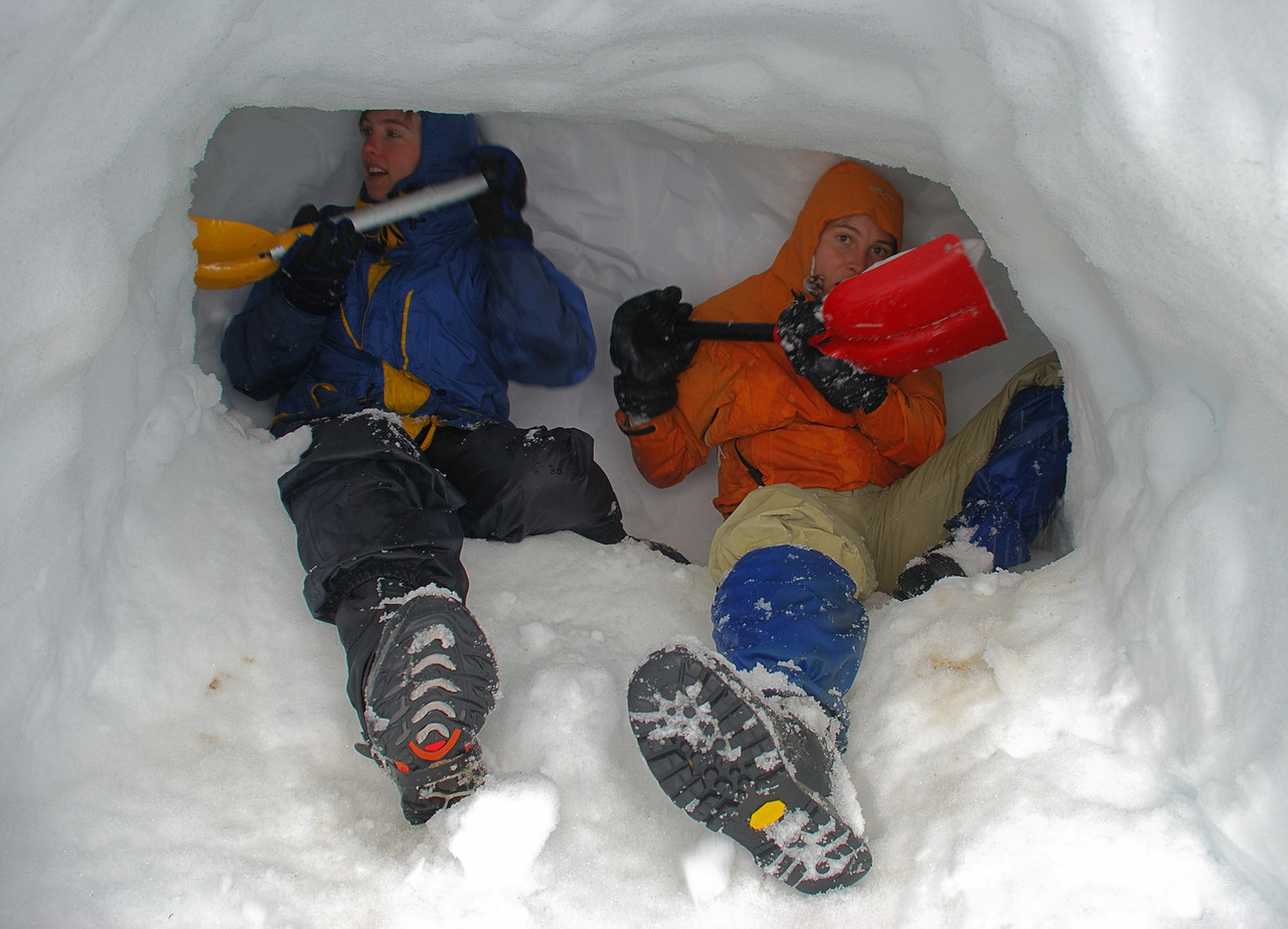 Digging the snow cave - 2