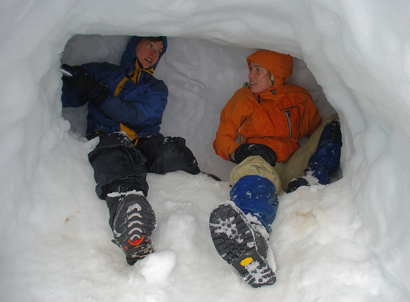 Digging the snow cave - 1