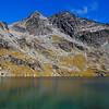 Single Cone and Double Cone above Lake Alta