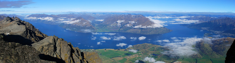View of Lake Wakatipu from the north west ridge of Double Cone, The Remarkables