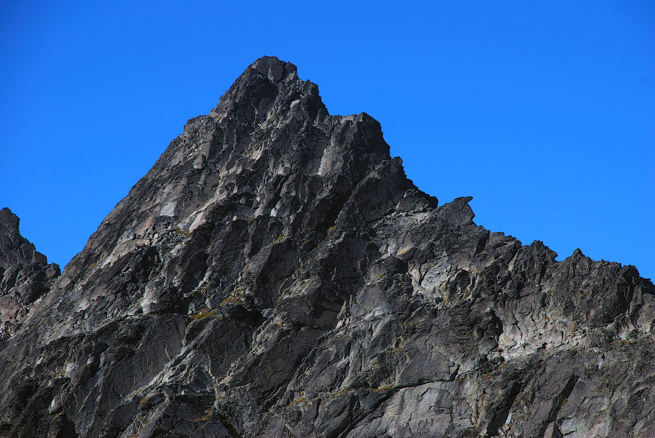 The summit of Double Cone (2307m) from the north west