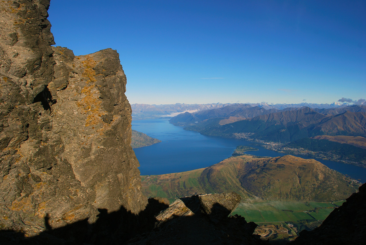 View of Lake Wakatipu from the northern end of the Queens Drive