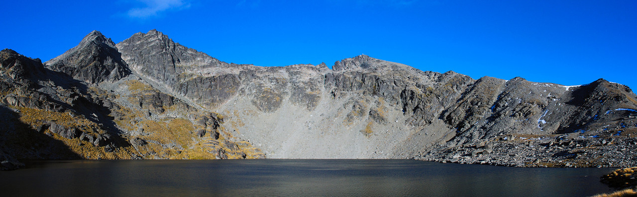Lake Alta panorama - and a full view of the Remarkables Grand Traverse
