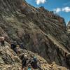 On the east ridge of Tooth Peak