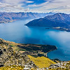 View of Lake Wakatipu from the summit of Walter Peak