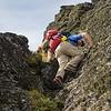 Scrambling to the summit of Walter Peak