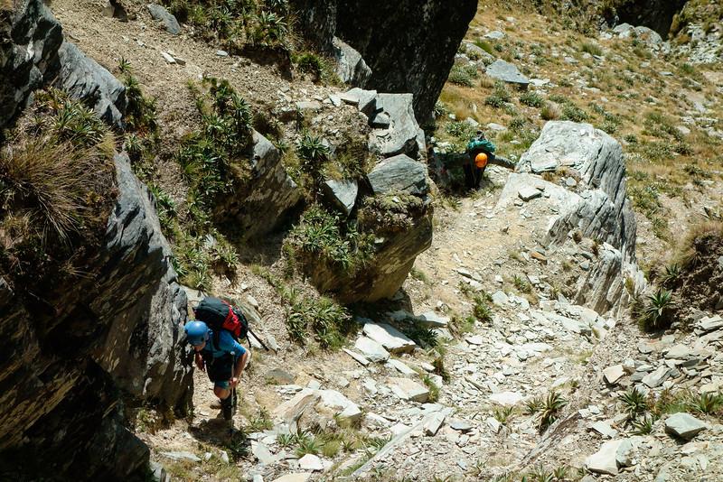 Climbing Walter Peak