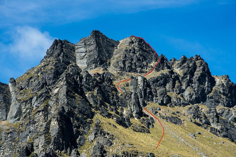 Walter Peak route topo