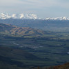 Canterbury Plains, Rangitata River and Mts Taylor and Somers