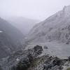 Snowing hard at Dynamo Hut