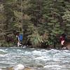 Crossing the Aparima River at the Spence/Aparima confluence