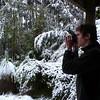 Jono photographs the snow