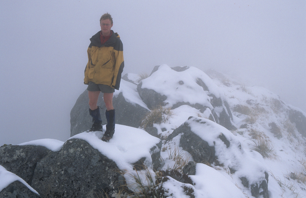 On the summit of All Round Peak. Great views, huh?