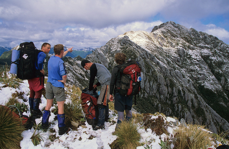 On the north ridge of All Round Peak