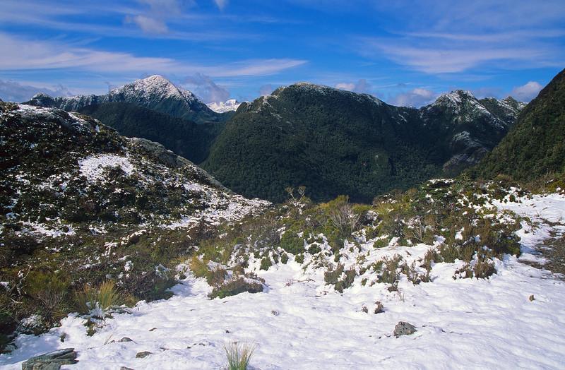 Mt Grono and The Hub from Leatherwood Saddle