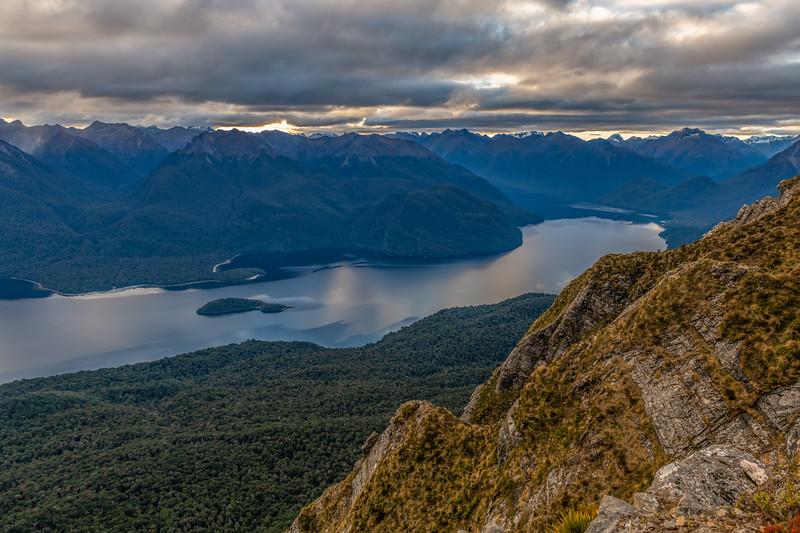 Looking north over Lake Te Anau from End Peak