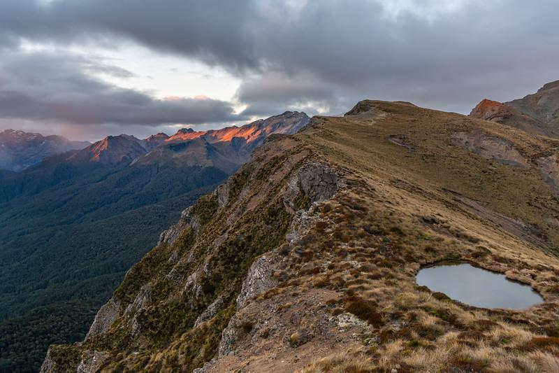 Campsite tarn on the east ridge of End Peak