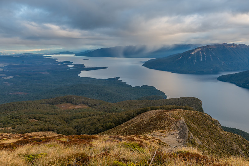 Looking south over Lake Te Anau from End Peak