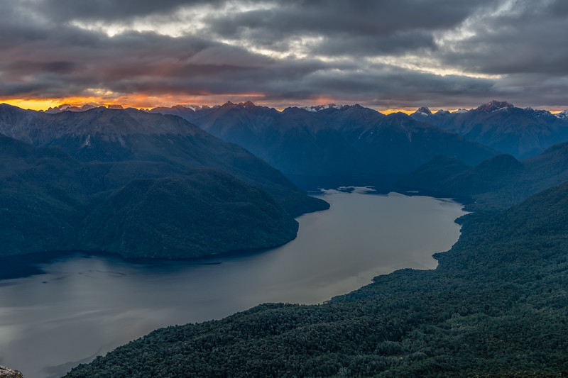 Looking north over Lake Te Anau from End Peak