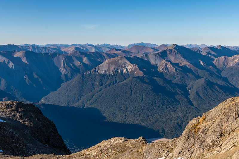 Countess Range (foreground) and Eyre Mountains (back) from Mount Eglinton.