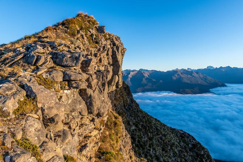 On the west ridge of Annick Peak