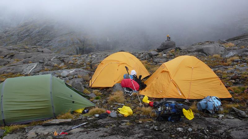 Campsite on Gertrude Saddle