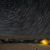 Star trails over Barrier Knob, Darran Mountains