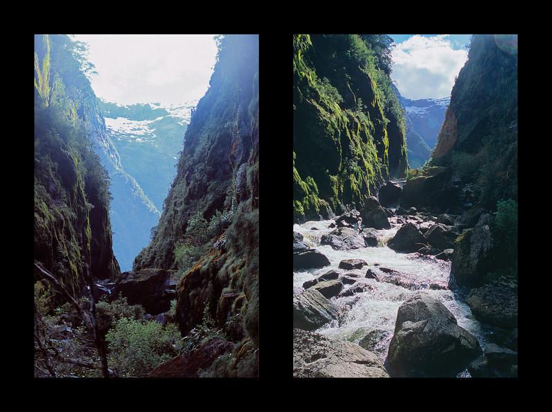 The gorge just below Lake Aquanaut