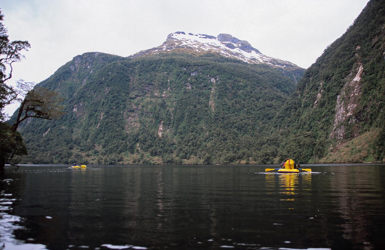 Floating across Leak Lake