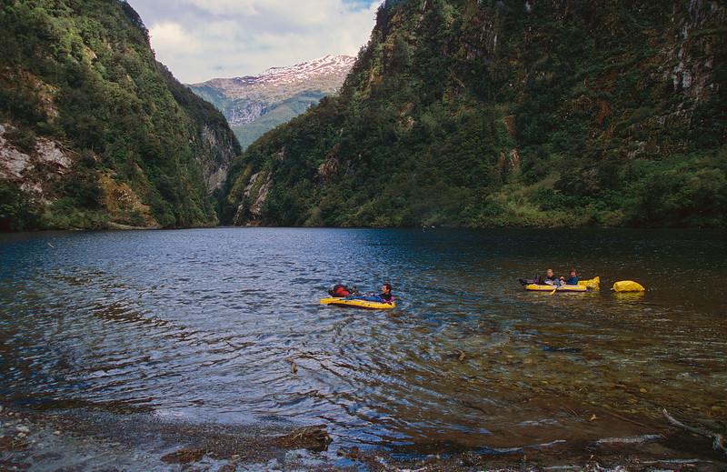 Floating on Lake Aquanaut