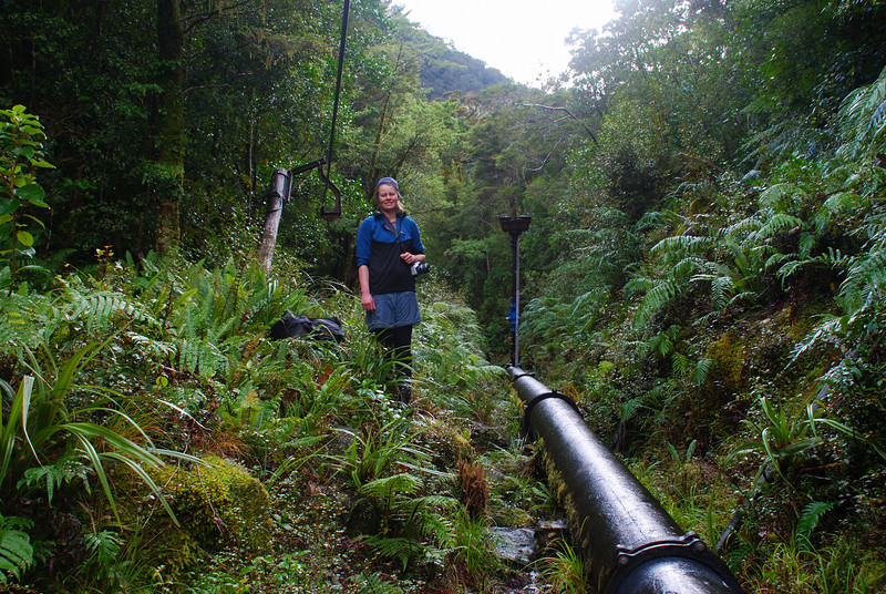 The pipeline that takes water from the Bowen River to Milford Sound