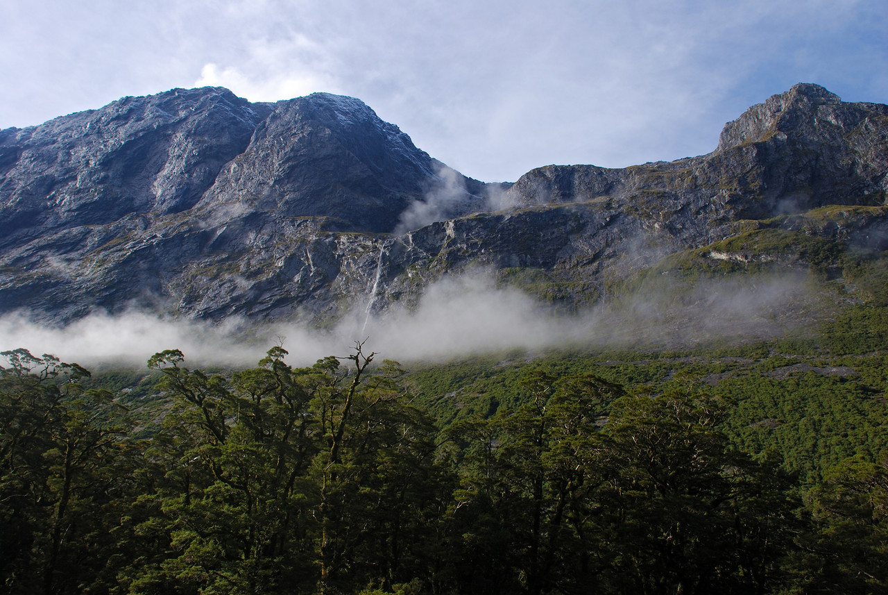 The steep west face of unnamed peak 1851m, Bowen River