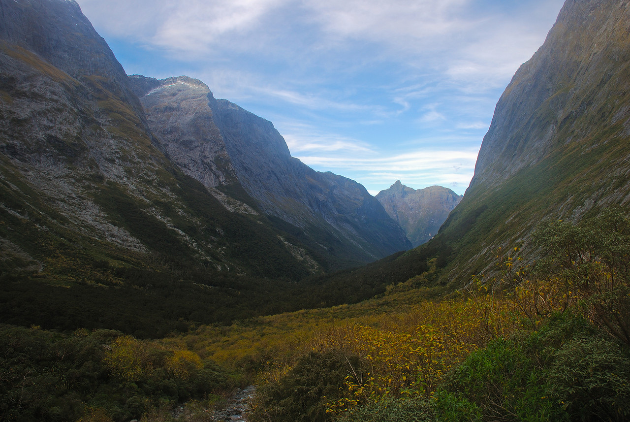 Bowen River, looking down valley from the valley head