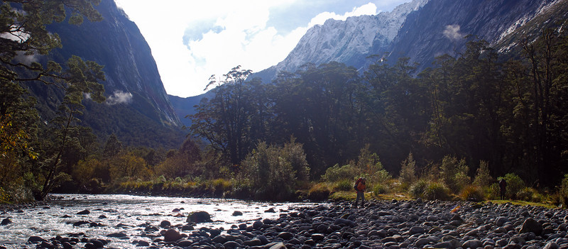 Bowen River. Bowen Col and Mitis Peak in the back