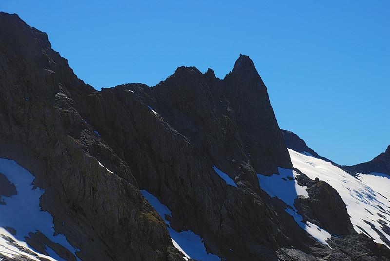 The ridge between Nicholas Peaks and Castle Mount